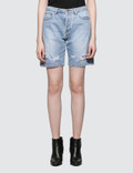 MSGM New Logo Msgm Light Blue Washed Denim Shorts Picutre