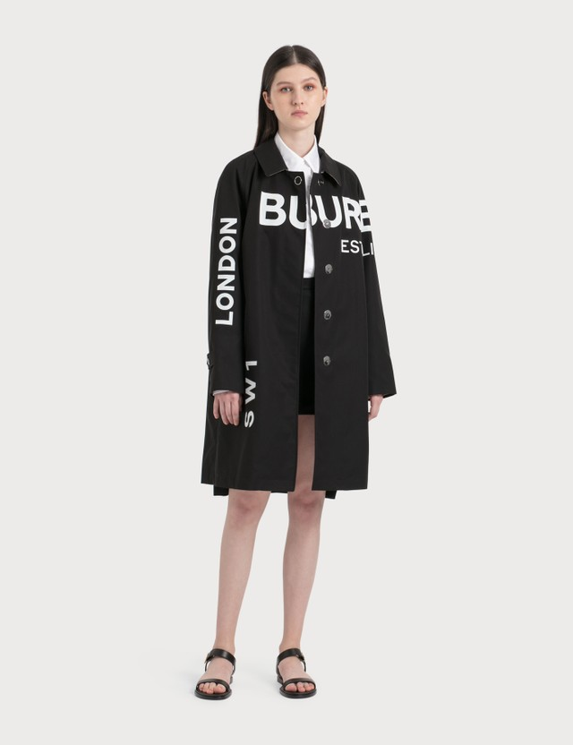 Burberry Horseferry Print Cotton Gabardine Car Coat