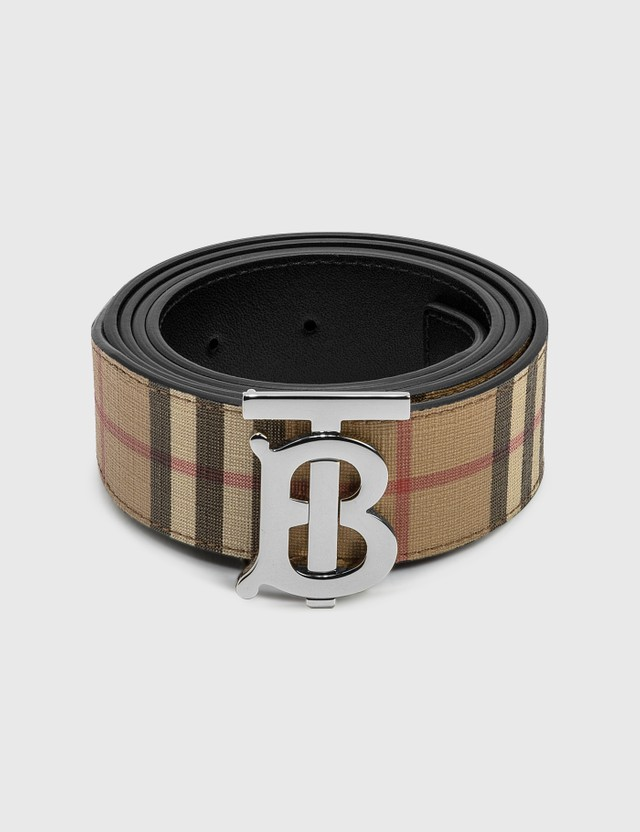 Burberry Monogram Motif Vintage Check Belt Archive Beige Men