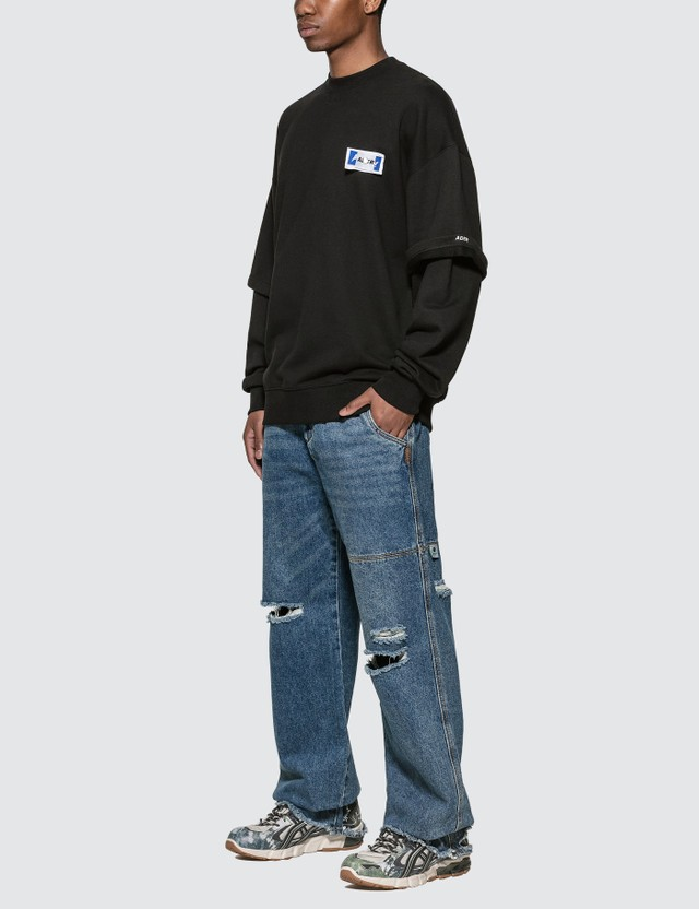 Ader Error Oversized Neckline Long Sleeve T-Shirt