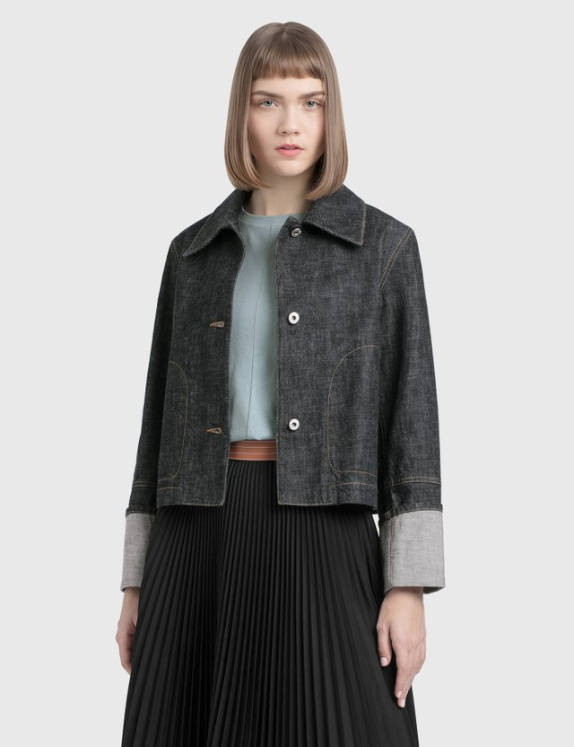 Loewe Button Jacket Indigo Women