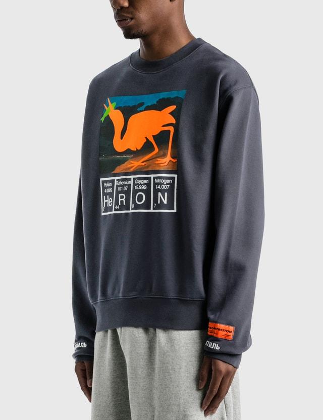 Heron Preston Heron Crewneck Anthracite Orange Men