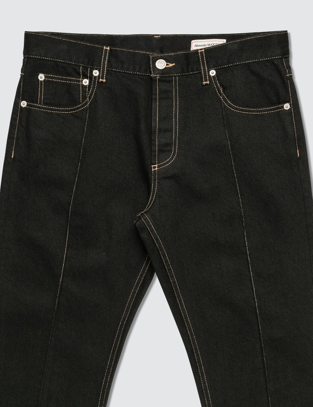 Alexander McQueen Piped Seams Straight Leg Jeans