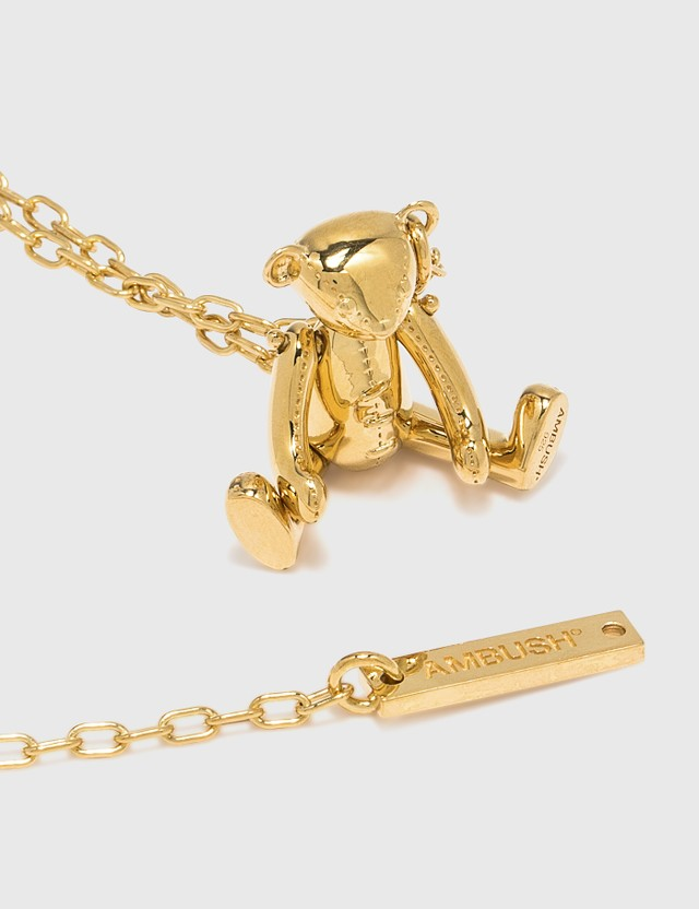 Ambush Teddy Bear Charm Necklace