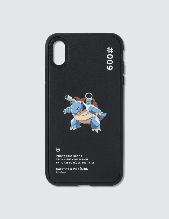 Casetify Blastoise 009 Pokédex Night Iphone XS Max Case Black Unisex