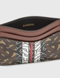 Burberry Monogram Stripe E-canvas Card Case Bridle Brown Women