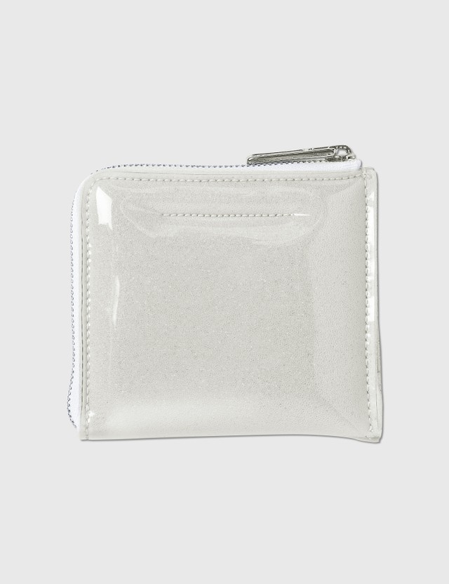 MM6 Maison Margiela PVC Foam Zip Wallet Trasparent Women