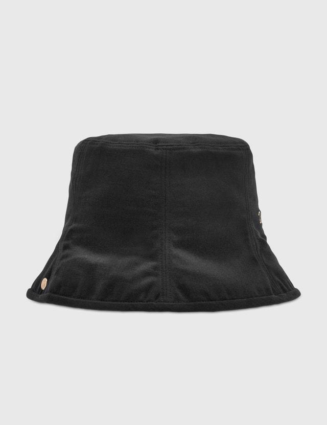We11done Black Seven Panel Bucket Hat Black Men