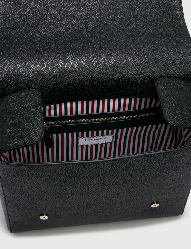 Thom Browne Structured Book Bag Black Men