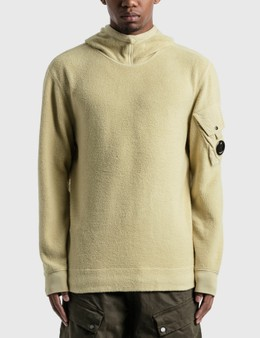CP Company Garment Dyed Polar Fleece Lens Hoodie