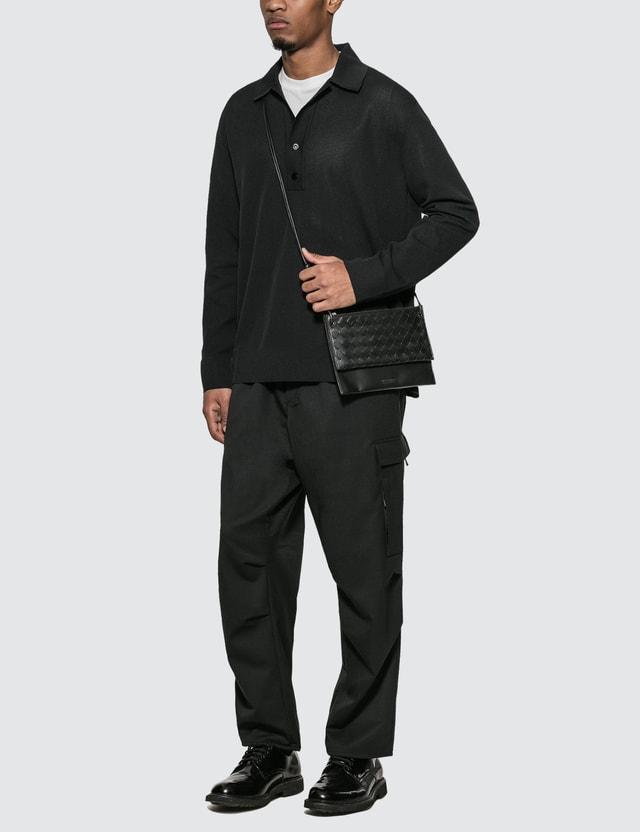 Bottega Veneta Knit Polo Black Men