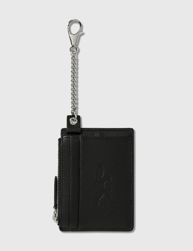 Maison Kitsune Leather Card Holder Black Men