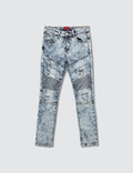 Haus of JR Dimitri Double Biker Jeans Indigo Acid Wash Kids