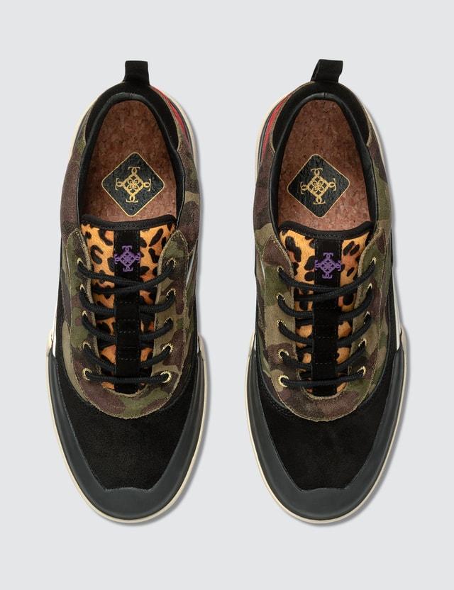 Stratica International Wilshire Deck Shoe Black Checker Men