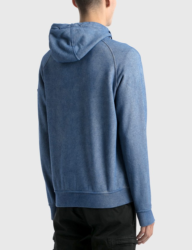 Stone Island Zip Up Hoodie Melange Men