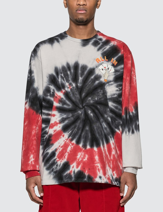 Just Don Dealers Spiral Dye Long Sleeve T-shirt