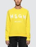 MSGM Brush Strokes Msgm Logo Sweatshirt Picutre