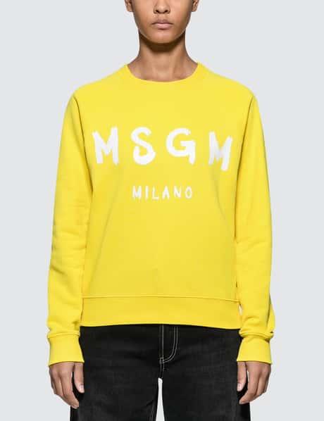 MSGM Brush Strokes Msgm Logo Sweatshirt