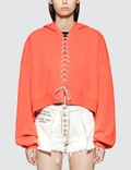 Unravel Project French Terry Lace Up Hoodie Faded Orange Picutre