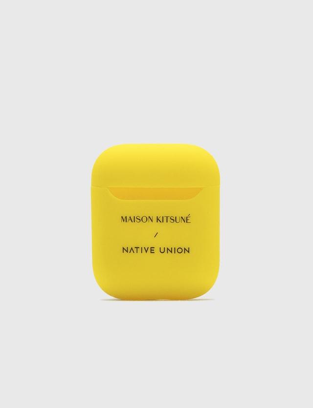 Maison Kitsune Native Union x Maison Kitsune AirPods Case Yellow Men