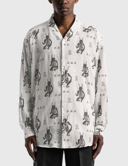 "Sasquatchfabrix. ""MAYOKE"" Wa-Neck Big Long Sleeve Shirt"