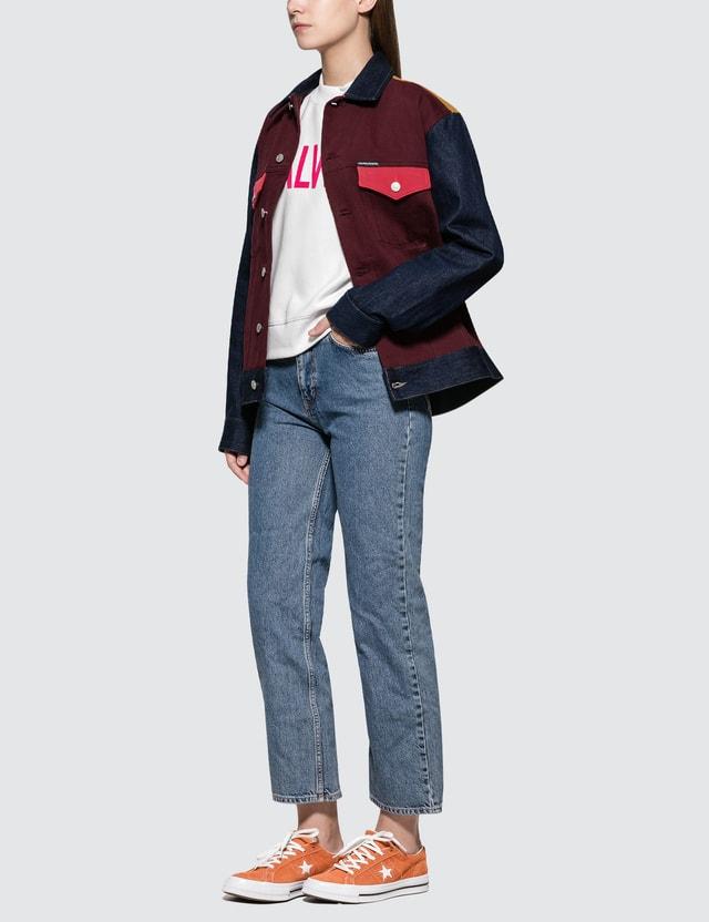 Calvin Klein Jeans Classic Trucker Blocked Ukelely Patch Women
