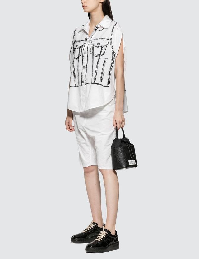 MM6 Maison Margiela Woven Shorts White Women