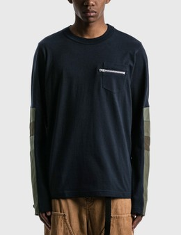 Sacai Cotton Jersey Long Sleeve T-shirt