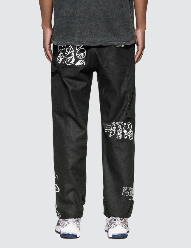 Brain Dead Printed Canvas Carpenter Pants