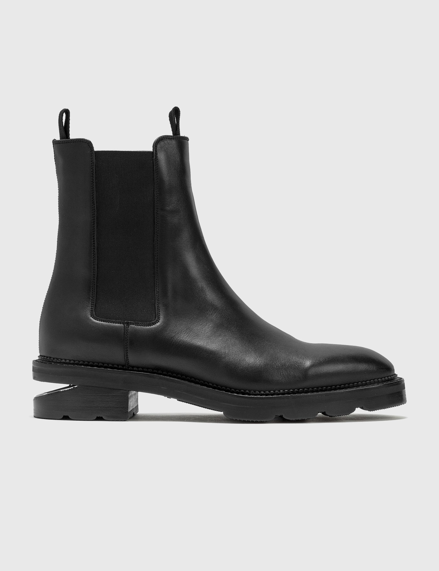 Andy Black Leather Chelsea Boots