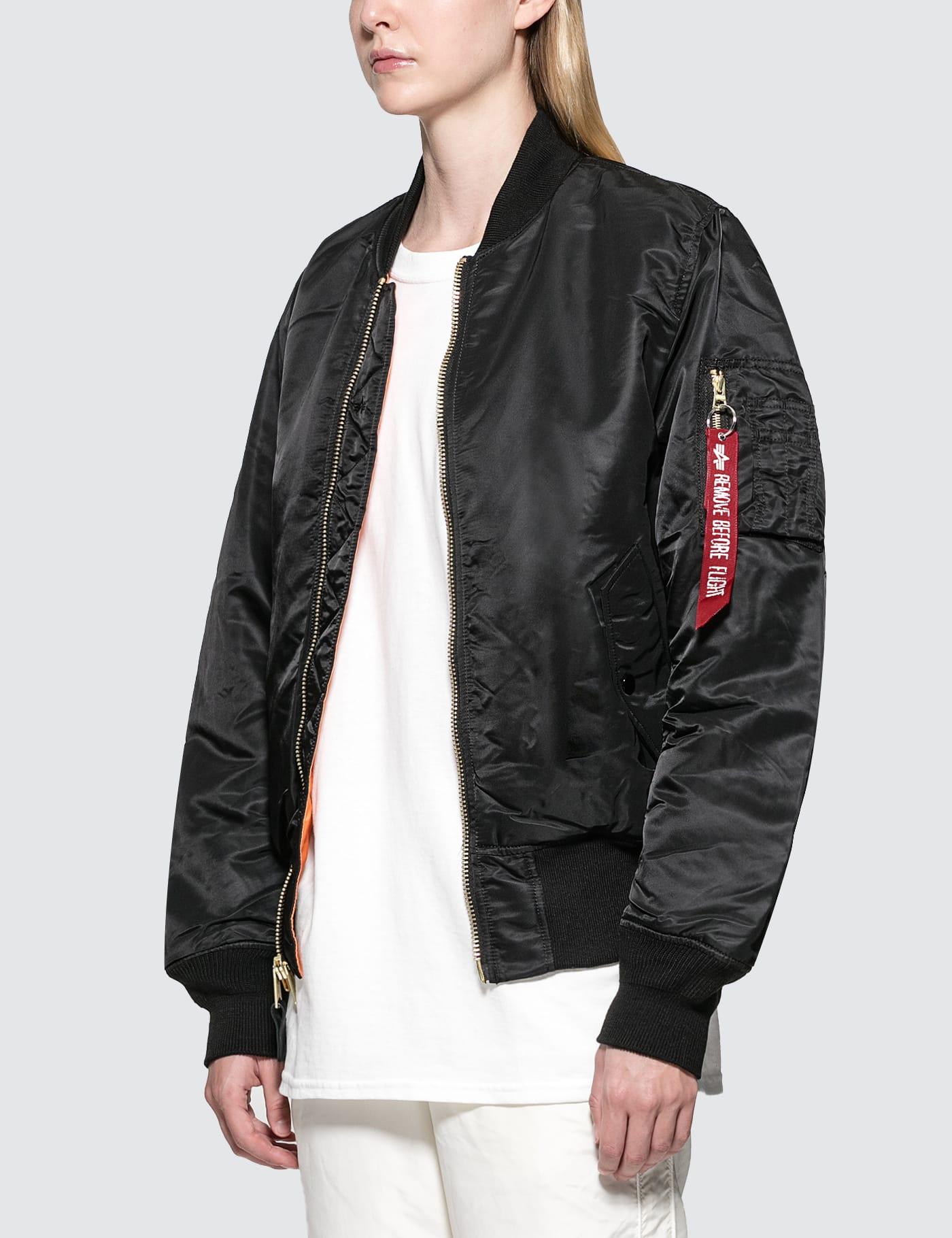 ALPHA INDUSTRIES Womens Ma-1 Blood Chit Flight Jacket W Jacket