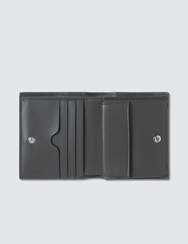 Alexander McQueen Extra Shiny Croc Embossed Folded Wallet