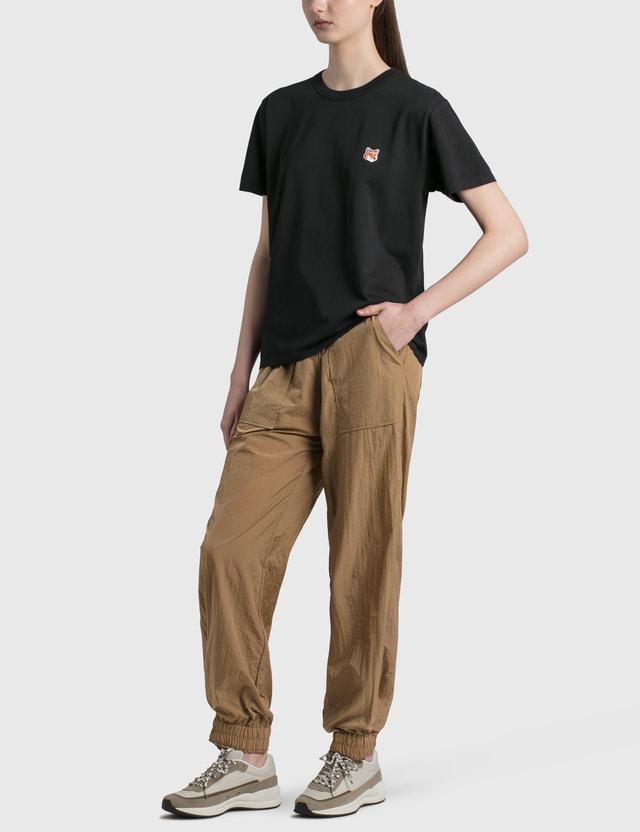 Maison Kitsune Fox Head Patch Classic 티셔츠 Black Bk Women
