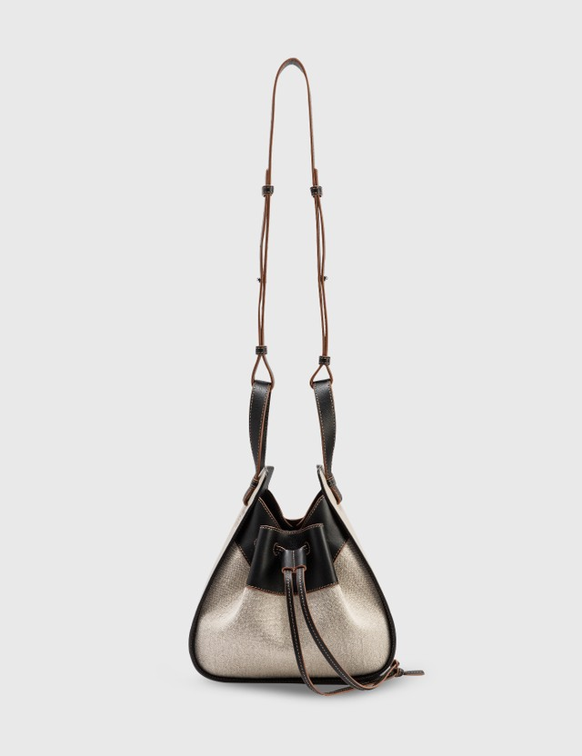 Loewe Small Drawstring Hammock Bag Light Oat/black Women