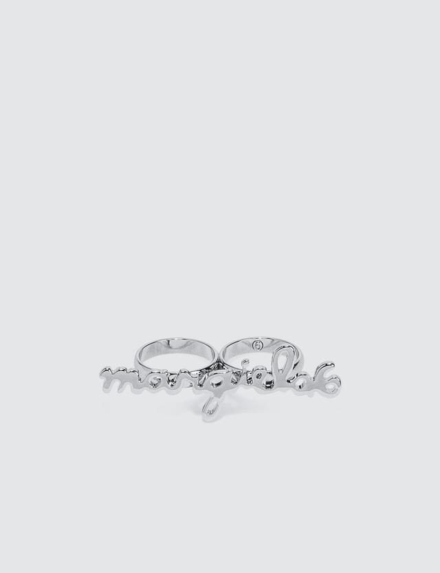 MM6 Maison Margiela Logo Double Ring