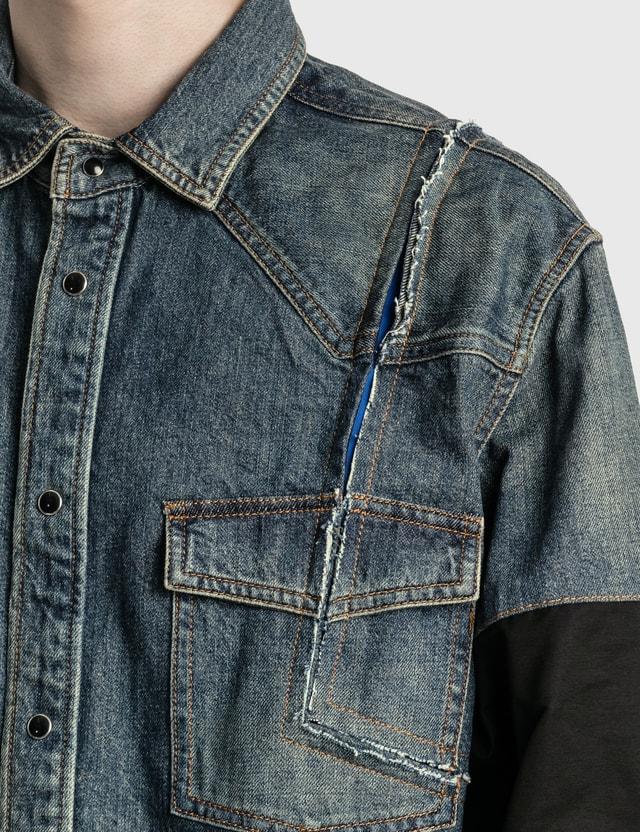 Sacai Denim Shirt Jacket Blue Men