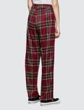 Danielle Guizio Plaid Zip Trousers Red Plaid Women