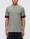 3.1 Phillip Lim Velour S/S T-Shirt with Rolled Jersey Cuff Picutre