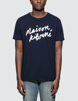 Maison Kitsune Handwriting S/S T-Shirt