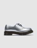 Dr. Martens 1461 Vegan Silver Chrome Paint Metallic Picture