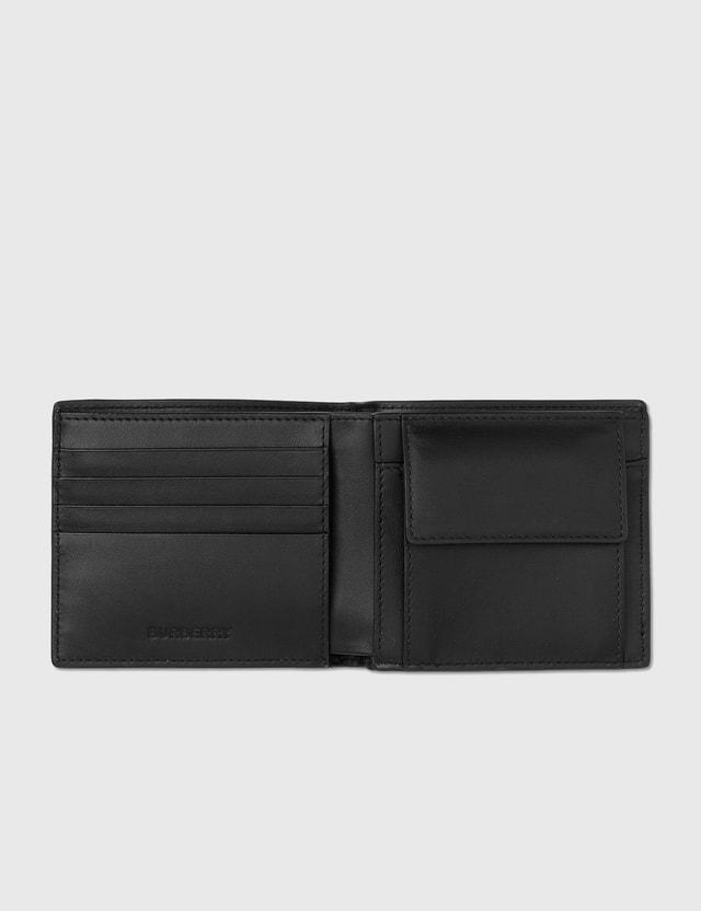 Burberry E-canvas Billfold Coin Wallet Archive Beige Men