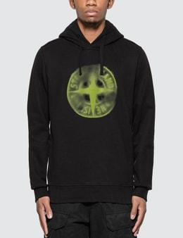 Stone Island Airbrushed Compass Logo Hoodie
