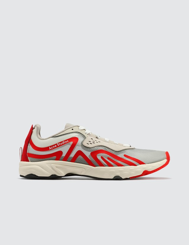 Acne Studios Trail Sneakers White/red/red Men