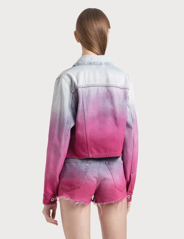 Off-White Degrade Cropped Denim Jacket =e117 Women