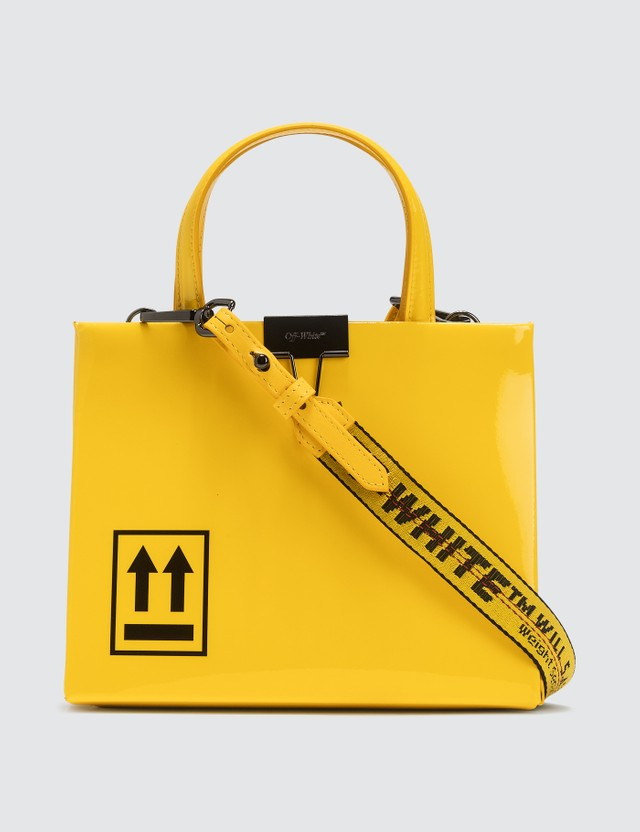 Off-White Patent Mini Box Bag