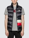 Moncler Gilet with Moncler Stripe Front Detail Picture