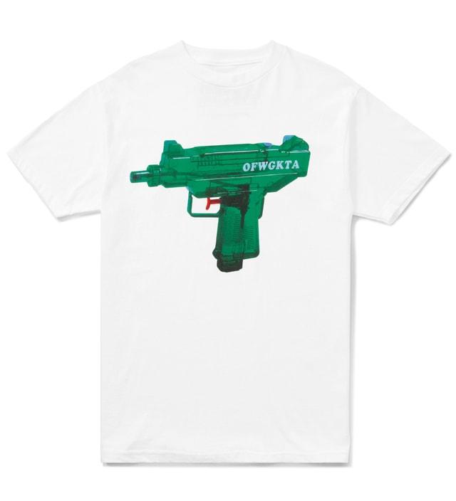 05d55579306 Odd Future - White OFWGKTA Water Gun Uzi T-Shirt
