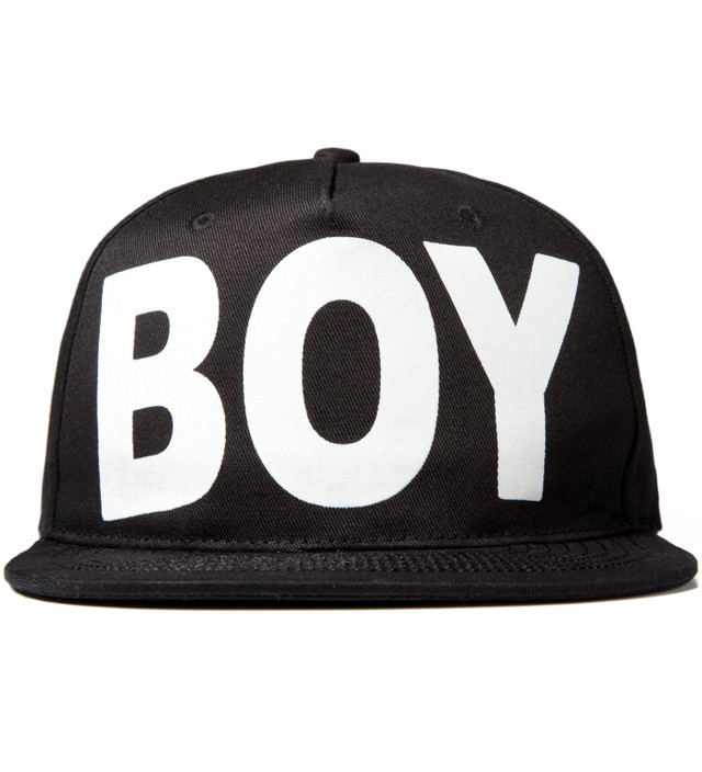 c627c15499c BOY London - Black White Boy London Snapback Cap