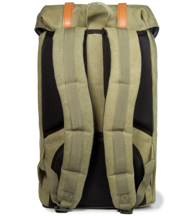 Herschel Supply Co. - Washed Army Little America Canvas Backpack   HBX d452abc748