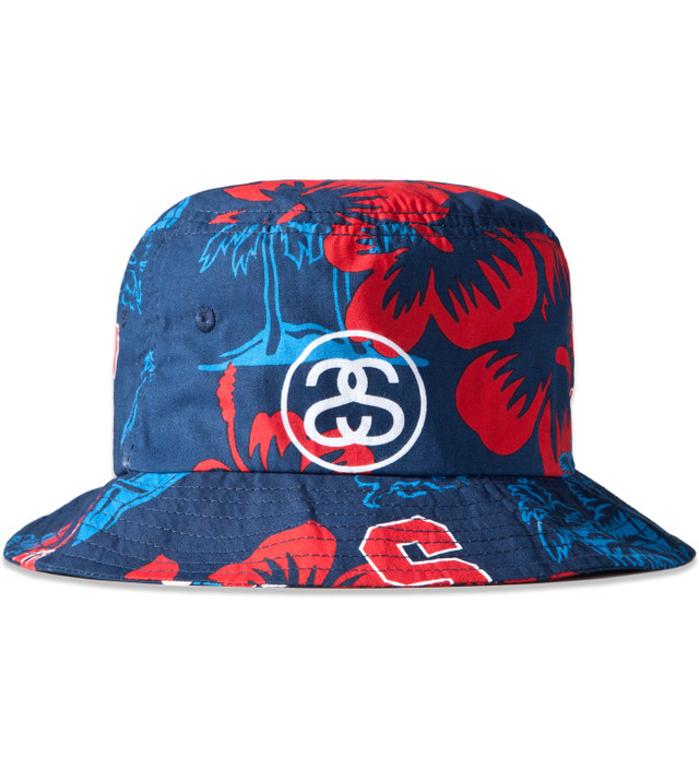 93cf0994947 Stussy - Navy College Floral Bucket Hat